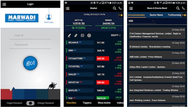 Marwadi Brokers Mobile Trading App